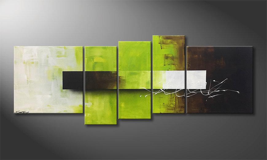 Nuestro cuadro Green Day 210x80x2cm