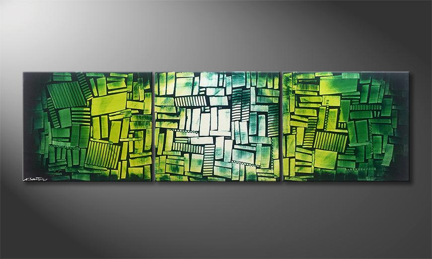 Nuestro cuadro Green Hope 210x60x2cm