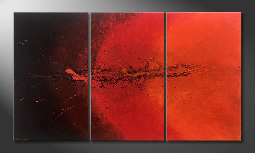 Nuestro cuadro Hot Splash 150x85x2cm
