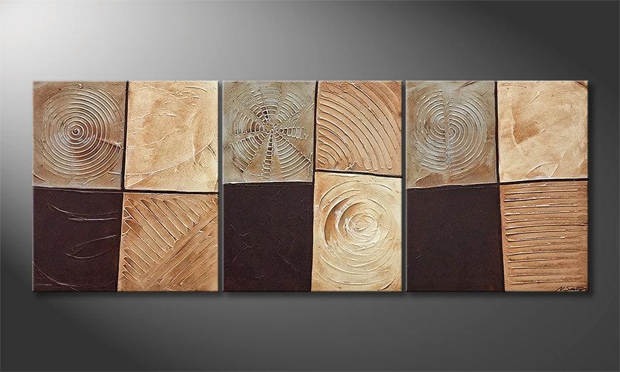 Nuestro cuadro Pieces Of Earth 180x70x2cm