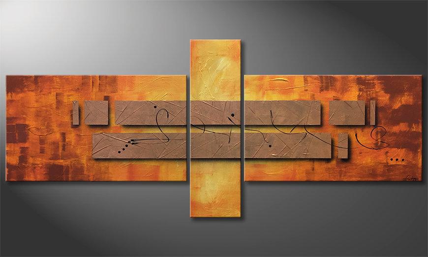 Nuestro cuadro Pieces of Afterglow 230x100x2cm