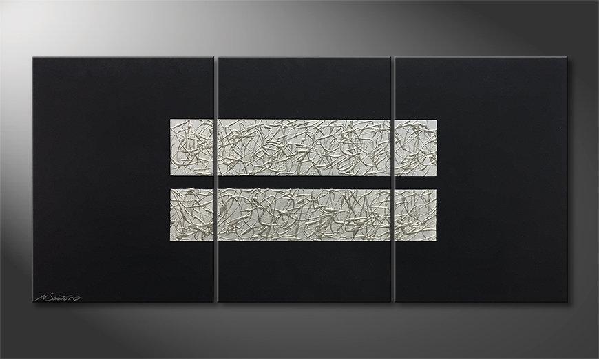 Pintura de lienzo Aboiled Silver 150x70x2cm