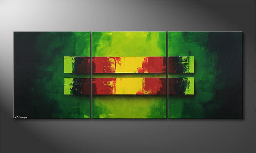 Pintura de lienzo Jungle Fever 180x70x2cm