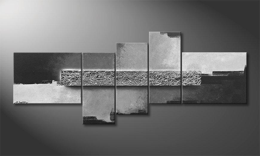 Pintura de lienzo Silver Switch 210x90x2cm