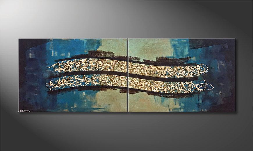 Pintura de lienzo The Drift 200x70x2cm