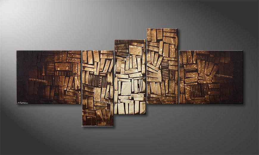 Pintura de lienzo Wooden Light 200x90x2cm